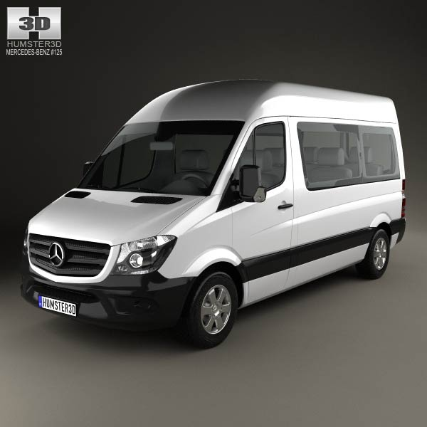 Mercedes benz sprinter passenger van 2013 3d model humster3d for Mercedes benz passenger van