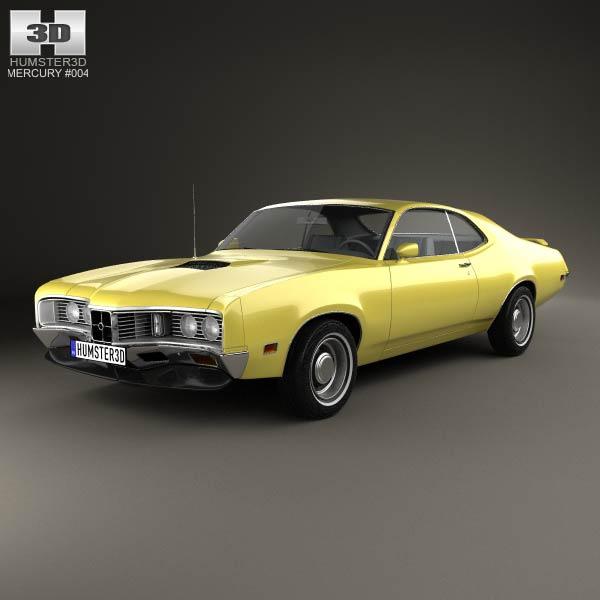 3D model of Mercury Montego Coupe 1970