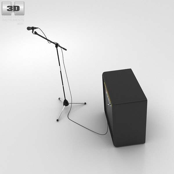 microphone with holder and amp 3d model humster3d. Black Bedroom Furniture Sets. Home Design Ideas