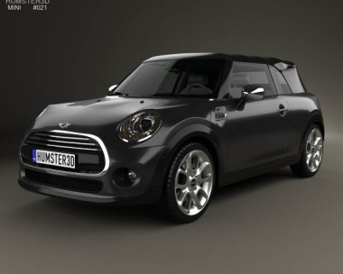 3D model of Mini Cooper convertible 2014