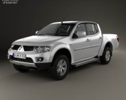 3D model of Mitsubishi L200 Triton Double Cab HPE 2012