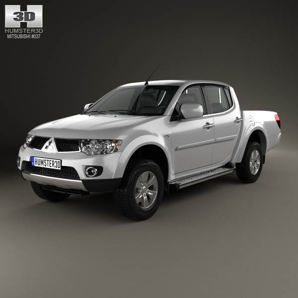 Mitsubishi L200 Triton Double Cab HPE 2012 3d car model