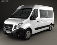 3D model of Nissan NV400 Passenger Van 2010