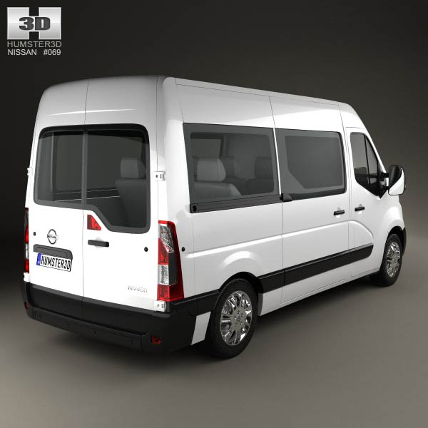 nissan nv400 passenger van 2010 3d model humster3d. Black Bedroom Furniture Sets. Home Design Ideas