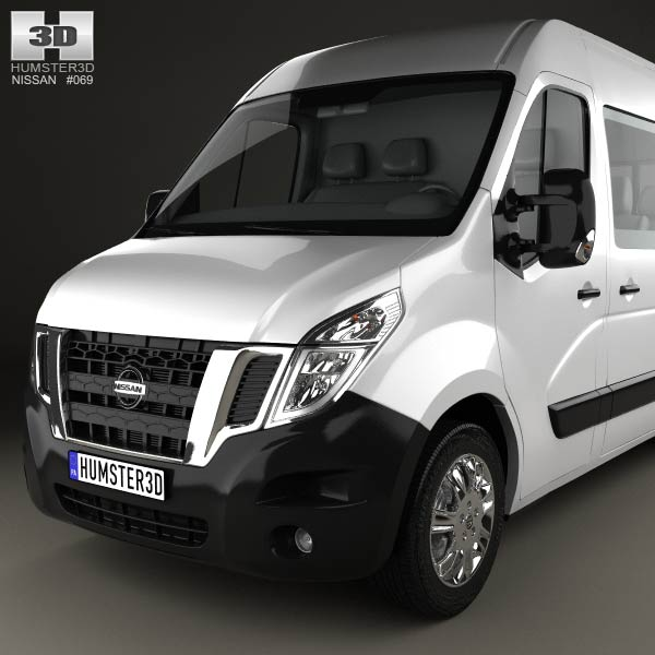 nissan nv400 passenger van 2010 3d model humster3d. Black Bedroom Furniture Sets. Home Design Ideas