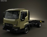 3D model of Renault D 7.5 Chassis Truck 2013