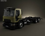 3D model of Renault D Wide Chassis Truck 2013