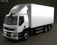 3D model of Renault Premium Distribution Hybrys Box Truck 2011