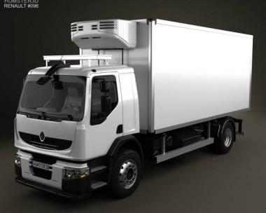 3D model of Renault Premium Distribution Refrigerator Truck 2011