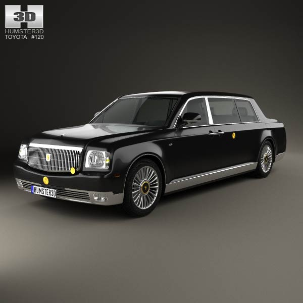 Toyota Century Royal 2006 3d Model Humster3d