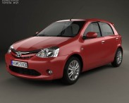 3D model of Toyota Etios Liva 2014