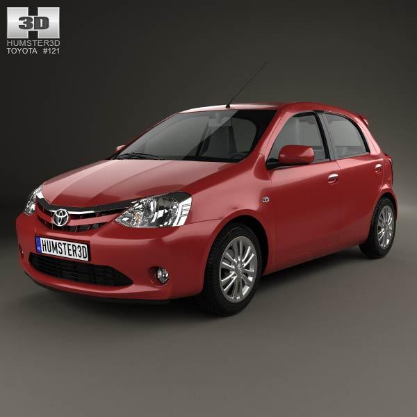 3D model of Toyota Etios Liva 2014