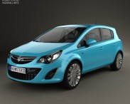 3D model of Vauxhall Corsa (D) 5-door 2010