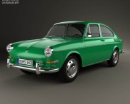 3D model of Volkswagen Type 3 (1600) fastback 1965