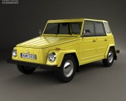 3D model of Volkswagen Type 181 1973