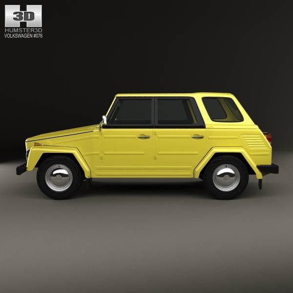 volkswagen type 181 1973 3d model humster3d. Black Bedroom Furniture Sets. Home Design Ideas