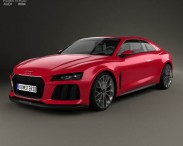 3D model of Audi Sport Quattro Laserlight 2014