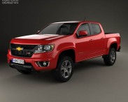 3D model of Chevrolet Colorado Double Cab 2014