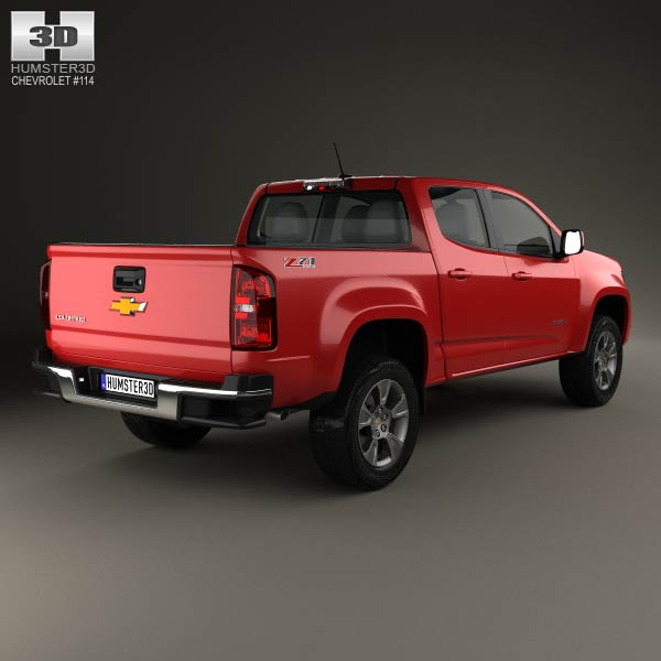 chevrolet colorado double cab 2014 3d model humster3d. Cars Review. Best American Auto & Cars Review