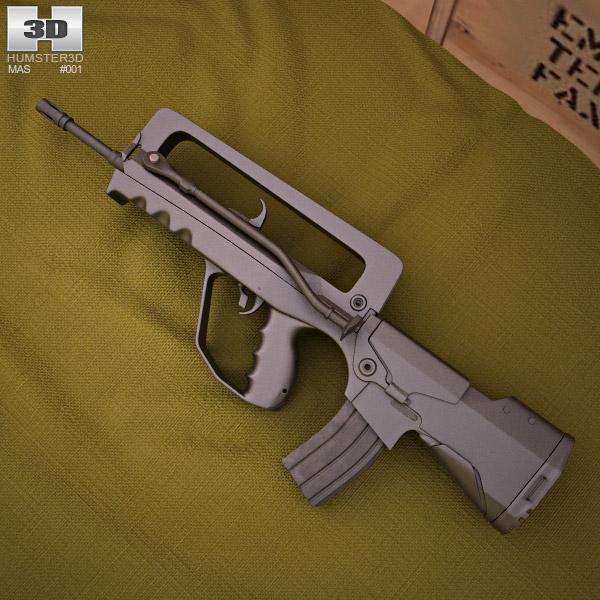 3D model of FAMAS G2