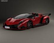 3D model of Lamborghini Veneno Roadster 2014