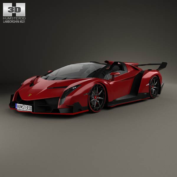 Lamborghini Veneno Roadster 2014 3d car model