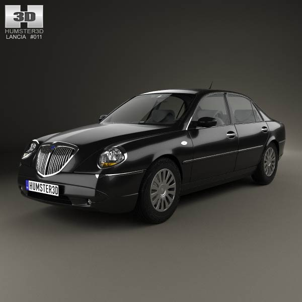 lancia thesis 2002 3d model humster3d. Black Bedroom Furniture Sets. Home Design Ideas