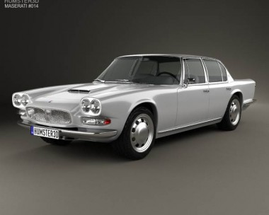 3D model of Maserati Quattroporte 1966