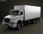 3D model of Mercedes-Benz Atron Box Truck 2011