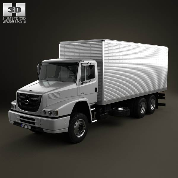 Mercedes benz atron box truck 2011 3d model humster3d for Mercedes benz box truck