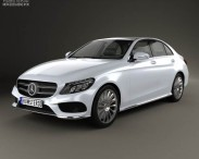 3D model of Mercedes-Benz C-Class AMG (W205) sedan 2014