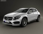 3D model of Mercedes-Benz GLA-Class 45 AMG 2014
