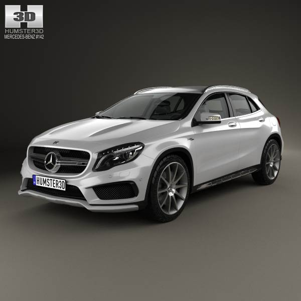 Mercedes benz gla class 45 amg 2014 3d model humster3d for Mercedes benz gla class price
