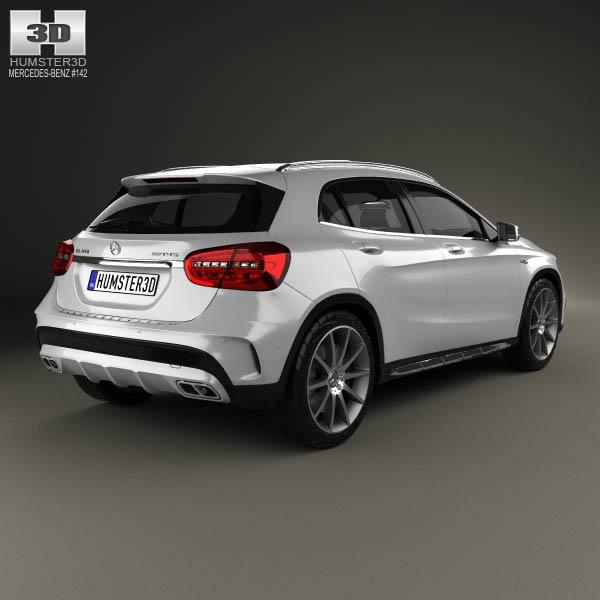 Mercedes benz gla class 45 amg 2014 3d model humster3d for Mercedes benz gla 2014