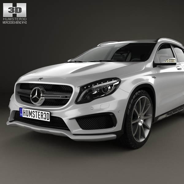 Mercedes benz gla class 45 amg 2014 3d model humster3d for 2014 mercedes benz gla class