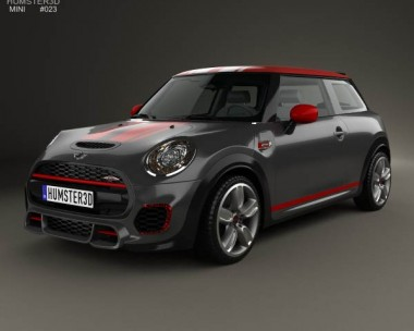 3D model of Mini John Cooper Works hardtop 2014