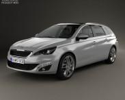 3D model of Peugeot 308 SW 2014