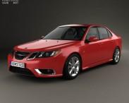 3D model of Saab 9-3 Sport Sedan 2008
