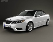 3D model of Saab 9-3 convertible 2008