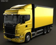3D model of Scania R 730 Box Truck 2010