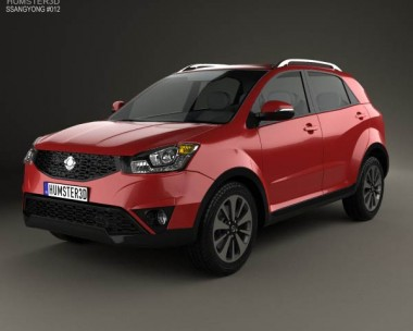 3D model of SsangYong Actyon 2014