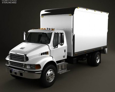 3D model of Sterling Acterra Box Truck 2002