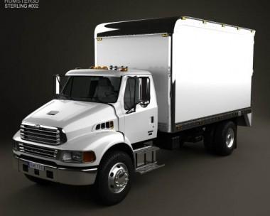 3D model of Sterling Acterra Box Truck 2002