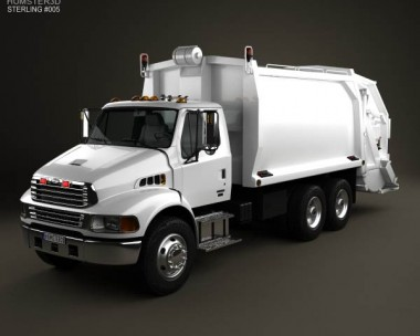 3D model of Sterling Acterra Garbage Truck 2002