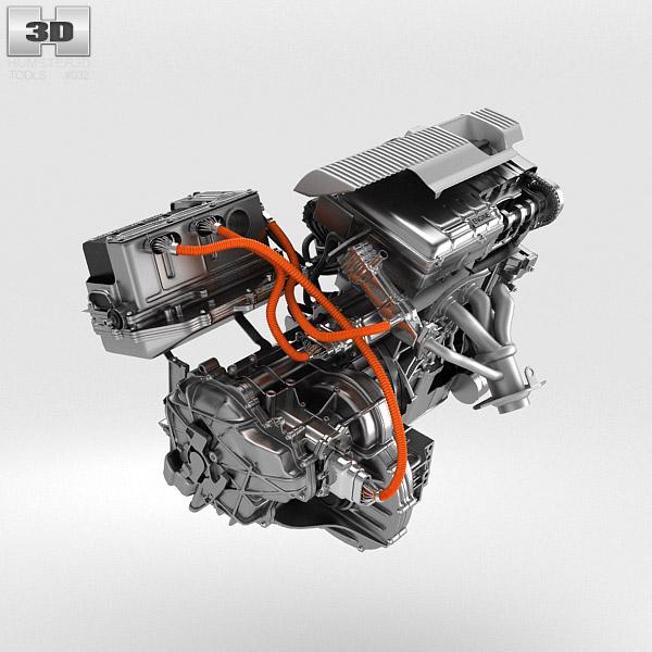 Toyota Hybrid Engine 3d Model Humster3d