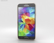 3D model of Samsung Galaxy S5 Gold