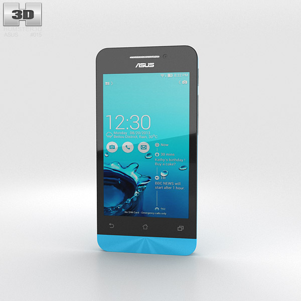 3D model of Asus Zenfone 4 Sky Blue