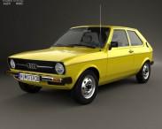 3D model of Audi 50 (Typ 86) 1974