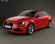 3D model of Audi A3 S line sedan 2013
