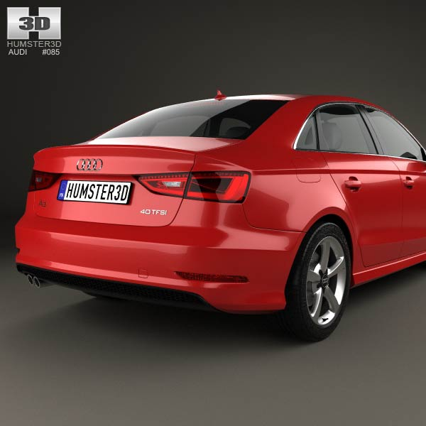 audi a3 s line sedan 2013 3d model humster3d. Black Bedroom Furniture Sets. Home Design Ideas